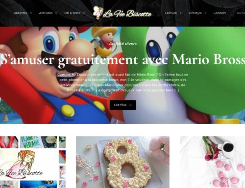 La Fée Biscotte – Site Web et Communication RS